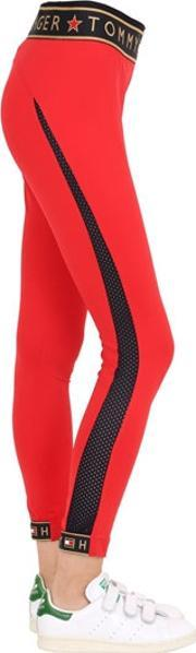 Tommy Hilfiger Collection , Logo Microfiber Leggings