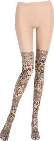 Pierre Mantoux , Sheer Stockings With Lace Effect