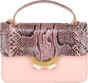 Patricia Alkary , Small Leather Bag With Python Details