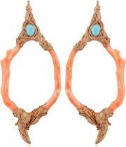 Opposite Jewels , Rose Coral Earrings