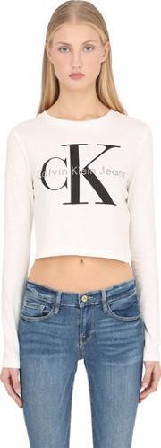 Calvin Klein Jeans , True Icon Cropped Long Sleeve T Shirt