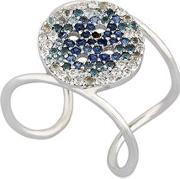 Buja , Button Blue Pave Ring