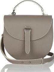 Meli Melo , Ortensia Cross Body Bag Taupe Cream Stitching
