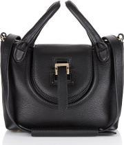 Meli Melo , Halo Mini Cross Body Bag Black Reverse Handle