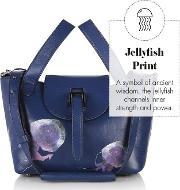 Meli Melo , Thela Mini Cross Body Bag Midnight Blue Jellyfish Print