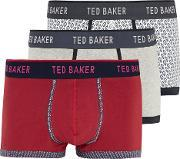 Ted Baker , Assorted Diamond Print 3 Pack Boxers