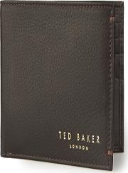Moss Bros , Ted Baker Chocolate Bifold Leather Wallet