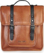 Ted Baker , Tan Oiled Look Smart Despatch Bag