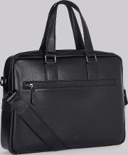 Moss Bros , Dkny Black Leather Business Bag