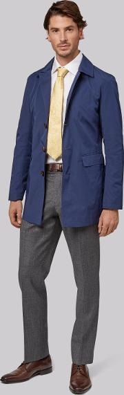 Moss Bros , Moss 1851 Tailored Fit Blue Raincoat