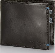 Moss Bros , Ted Baker Black Bright Internal Leather Wallet