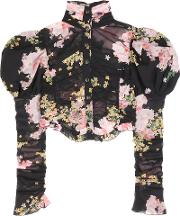 Alessandra Rich , Floral-printed Silk Top