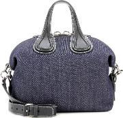Givenchy , Nightingale Small Denim And Leather Tote