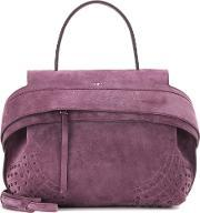 Tods , Wave Small Suede Tote