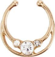 New Look , Gold Stone Detail Septum Ring