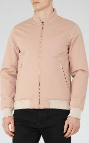Reiss , Akio Mens Zip Bomber Jacket In Pink
