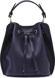 Reiss , Madison Mini Womens Mini Bucket Bag In Blue