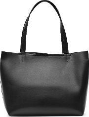 Reiss , Broadway Womens Structured Leather Tote In Black