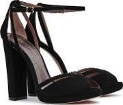 Reiss , Elvi Womens Block Heel Platform Shoes In Black