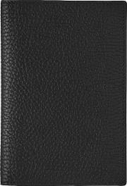 Reiss , Parsons Mens Leather Passport Holder In Black