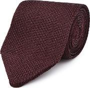 Reiss , Canter Mens Knitted Silk Tie In Red