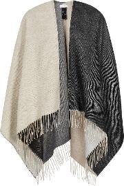 Reiss , Lomax Womens Double Faced Poncho In Black