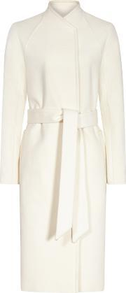 Reiss , Skye Womens Wool And Cashmere Coat In White