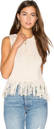Callahan , Fringe Crop Sweater Tank