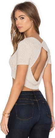 Callahan , Open Back Crop Top