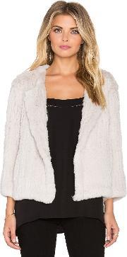H Brand , Lola Rabbit Fur Jacket