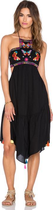 Ale By Alessandra , Butterfly Embroidered Dress