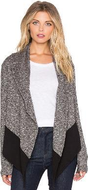 Bobi , French Terry Light Weight Cashmere Cardigan