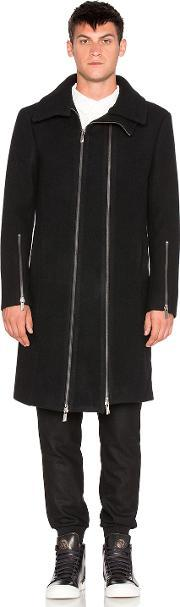 D Gnak , Two Zip High Neck Coat