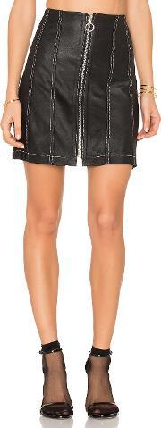 Frankie , Leather Stitched Skirt