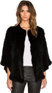 H Brand , Arik Dyed Rabbit Fur Cape