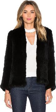 H Brand , Emily Rabbit Fur Jacket