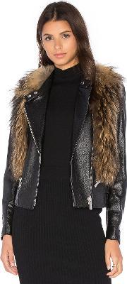 Nour Hammour , Flashing Lights Jacket With Asiatic Raccoon Fur