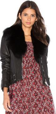 Nour Hammour , Nada Fox Fur Collar Jacket