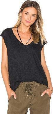 Pam & Gela , V Neck Tee With Strings