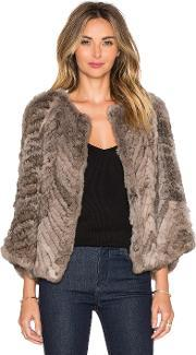 H Brand , Jagger Rabbit Fur Jacket