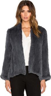 H Brand , Emily Dyed Rabbit Fur Jacket