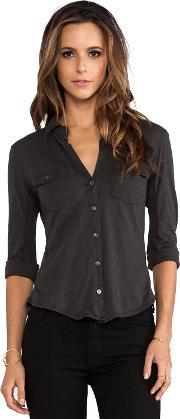 James Perse , Contrast Panel Shirt