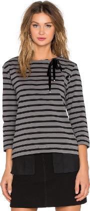 Marc By Marc Jacobs , Jacquelyn Stripe Long Sleeve Top
