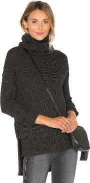 Tejido , Funnel Neck High Low Sweater