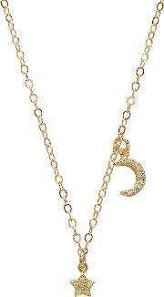 Eight By Gjenmi Jewelry , Moon Star Chain Necklace