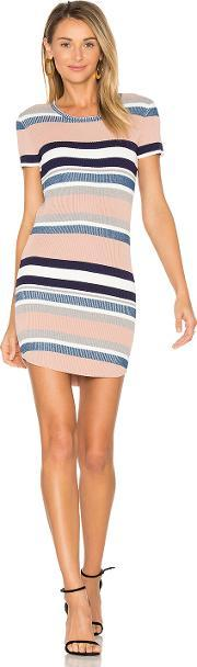 Callahan , Stripe Cap Sleeve Dress