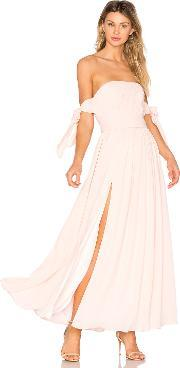 Fame And Partners , X Revolve Sandra Maxi Dress In Pale Link