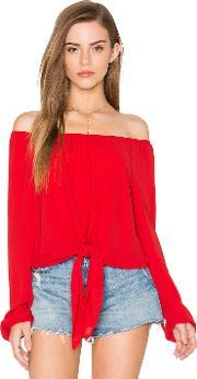 Eight Sixty , Off The Shoulder Tied Waist Top