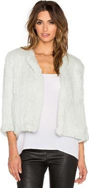 H Brand , Lola Dyed Rabbit Fur Jacket