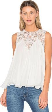 Endless Rose , Lace Detail Pleated Top
